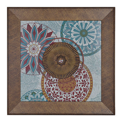 Aqua and Spice India Medallion Shadowbox