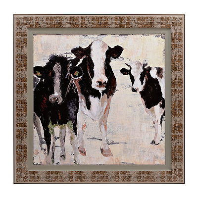 Staring Cows Framed Art Print