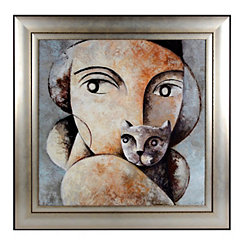 Feline Friend Framed Art Print