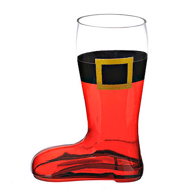 Santa's Boot Beer Glass