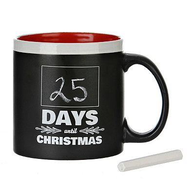 Days Until Christmas Chalk Mug