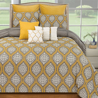 Payton Lemon Curry 6-pc. Queen Comforter Set