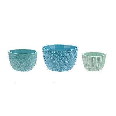 Coastal Nested Mixing Bowls, Set of 3