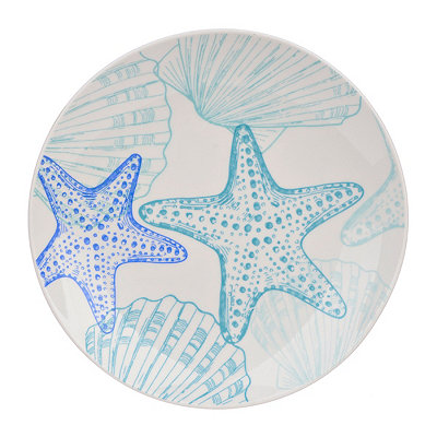 Starfish and Shells Salad Plate