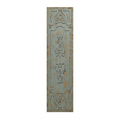Distressed Turquoise Vintage Door Wooden Plaque