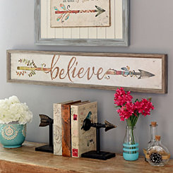 Believe Arrow Framed Art Print