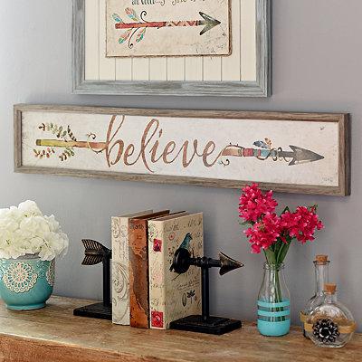 Believe Arrow Framed Art Print