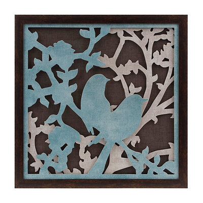 Blue Bird Silhouette Shadowbox