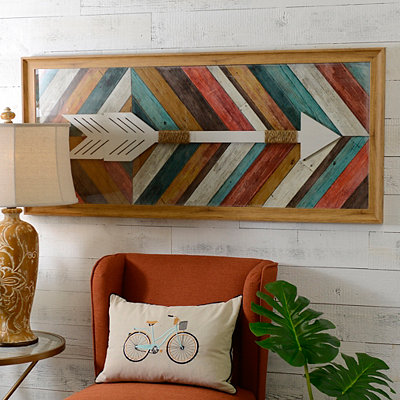 Wood Plank Arrow Shadowbox