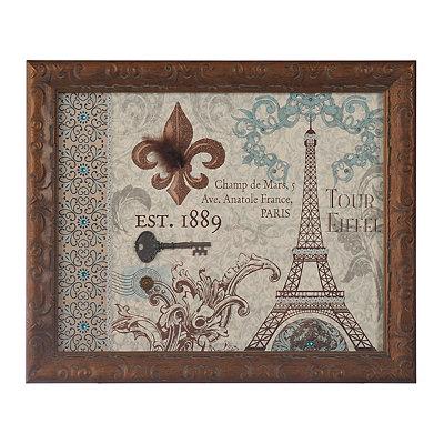 Tour Eiffel Fleur-de-lis Shadowbox