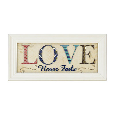 Love Never Fails Scrapbook Shadowbox