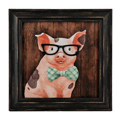 Gilbert the Pig Framed Art Print