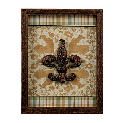 French Country Fleur-de-Lis Shadowbox