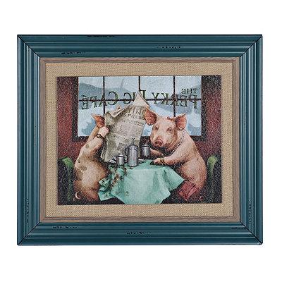 Perky Pig Café Framed Art Print