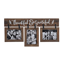 Thankful and Grateful 3-Opening Collage Frame