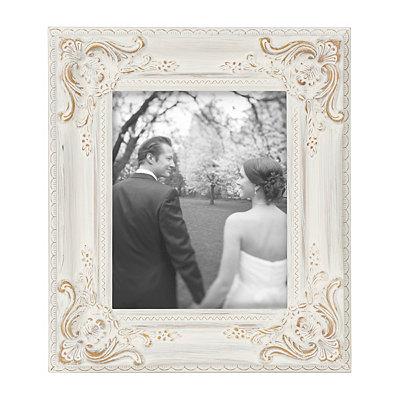 Vintage White Portrait Picture Frame, 8x10