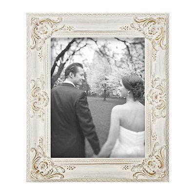 Vintage White Portrait Picture Frame, 11x14