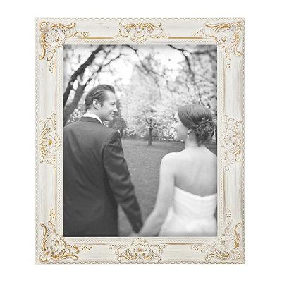 Vintage White Portrait Picture Frame, 16x20