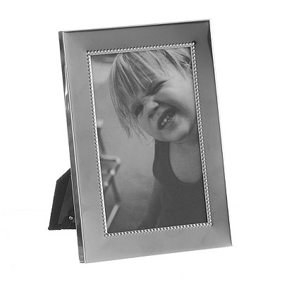 Gracie Silver Beaded Picture Frame, 4x6