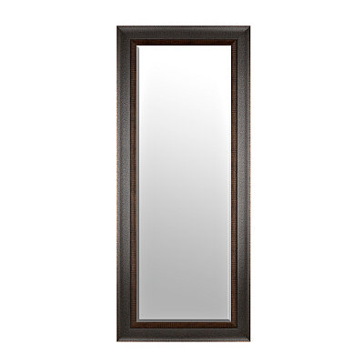 Grooved Espresso Framed Mirror, 33x79 in.