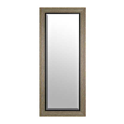 Rustic Grained Framed Mirror, 33x79 in.