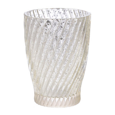 Silver Swirl Mercury Glass Toothbrush Holder