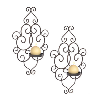Victoria Antique Scroll Sconces, Set of 2