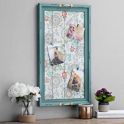 Turquoise Tray Photo Board Collage Frame