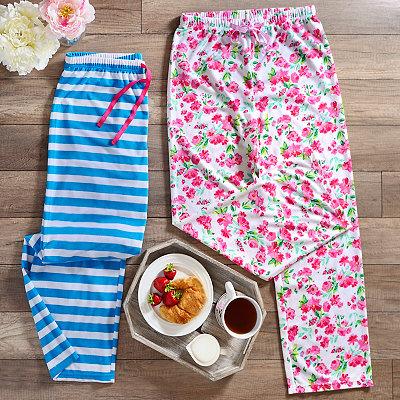 Terry Plush Spring Pajama Pants