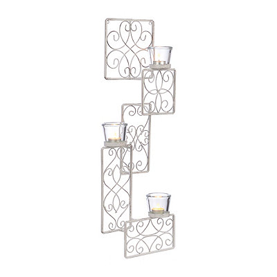 Cream Patchwork Panels Sconce