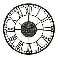 Black Tamara Tree Metal Clock