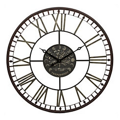 Black Tamara Tree Metal Clock