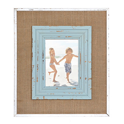 Catherine Blue Burlap Picture Frame, 5x7