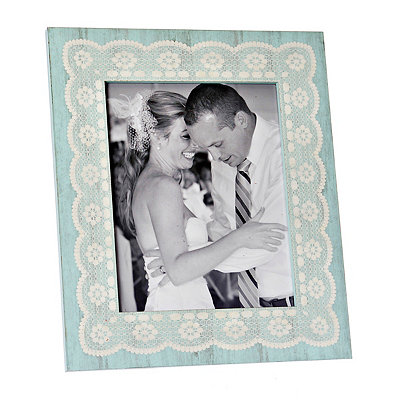Amy Turquoise Lace Picture Frame, 8x10