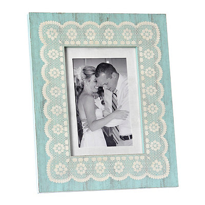 Amy Turquoise Lace Picture Frame, 5x7