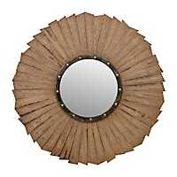 Rustic Wave Mirror