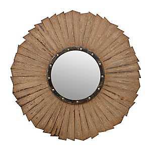 Rustic Wave Mirror