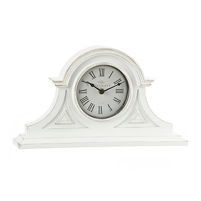 White Elizabeth Tabletop Clock