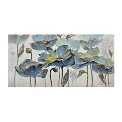 Indigo Floral Canvas Art Print