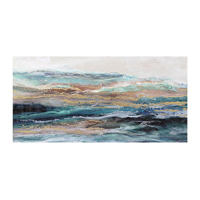 Teal Waves Canvas Art Print