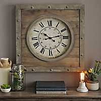 NNatural Wood Plank Clock