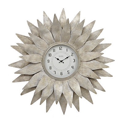 Galvanized Starburst Clock