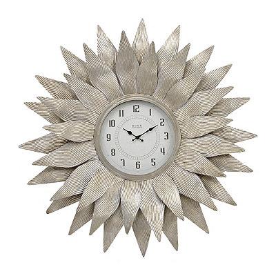 Galvanized Starburst Clock