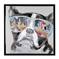 City Shades Frenchie Canvas Art Print