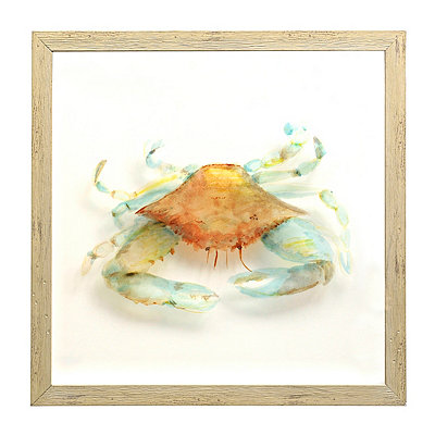 Watercolor Crab Shadowbox