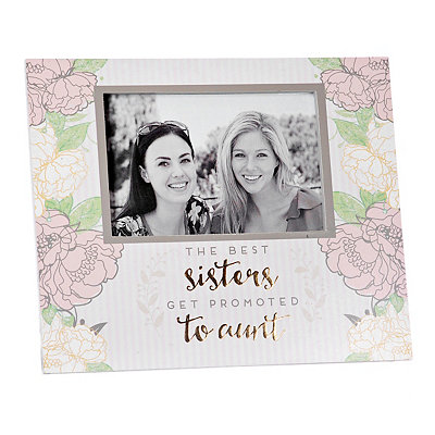 Best Sisters Get Promoted Picture Frame, 4x6
