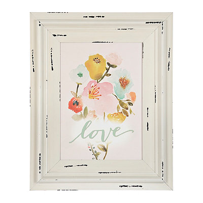 Love Floral Framed Art Print