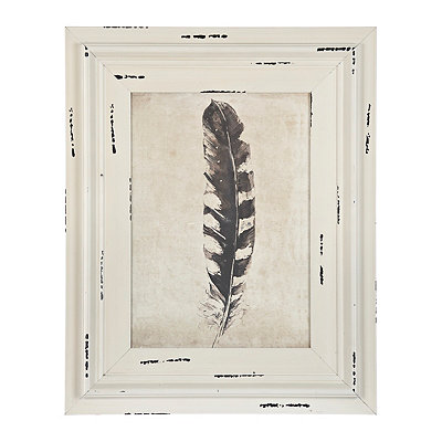 Black Right Feather Framed Art Print