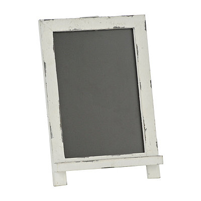 Antique White Mini Chalkboard