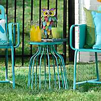 Turquoise Retro Outdoor Side Table